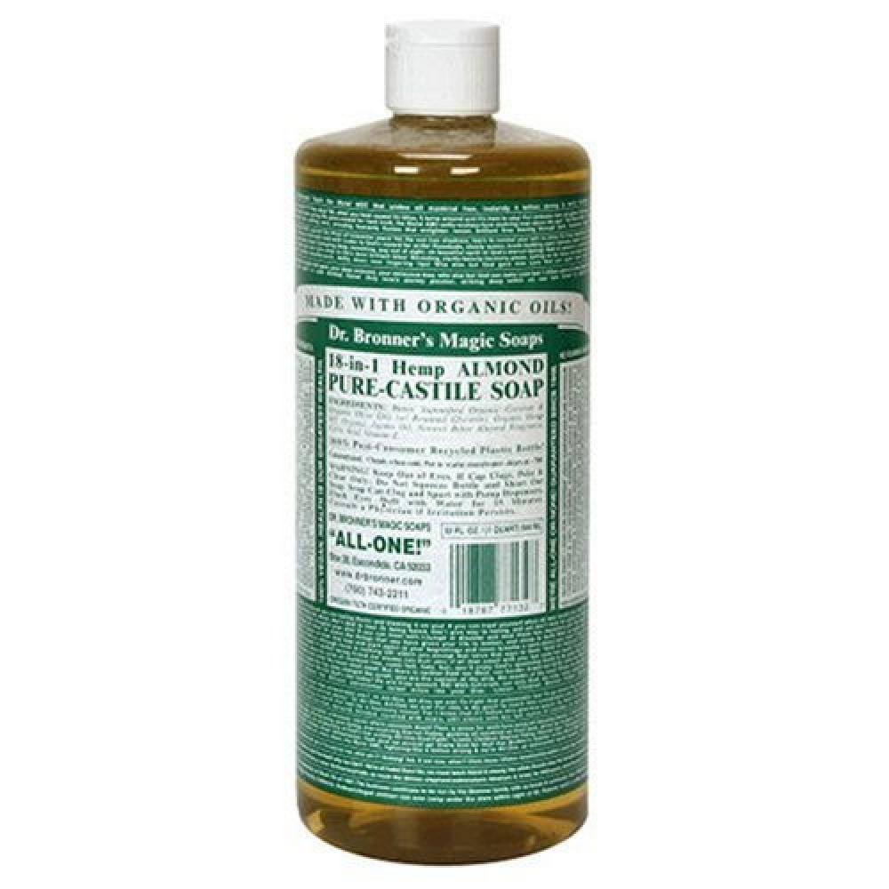 dr bronners organic almond castile liquid soap 946ml approved food. Black Bedroom Furniture Sets. Home Design Ideas