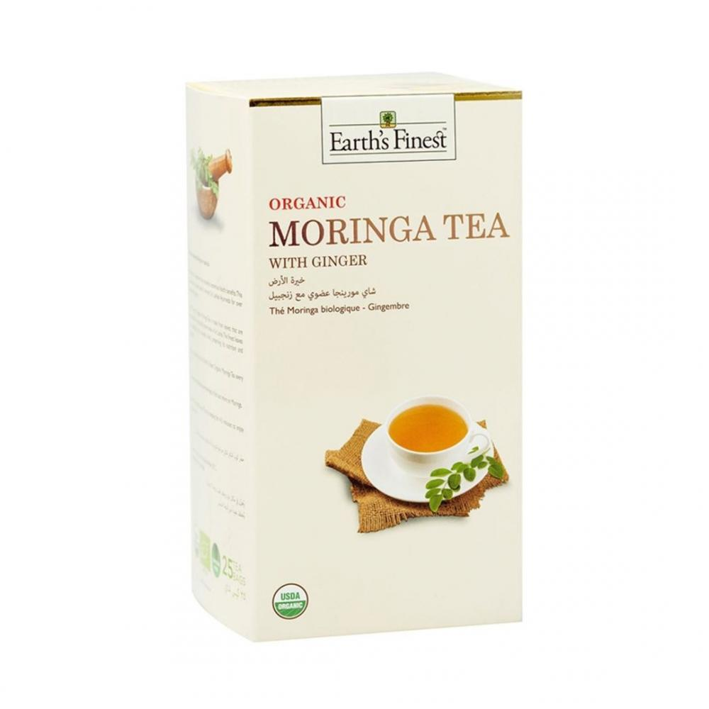 Earths Finest Organic Moringa Tea With Ginger 25 Tea Bags