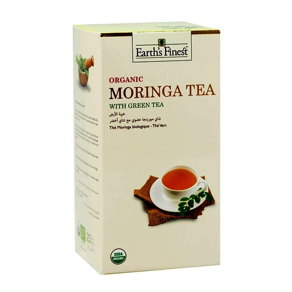 Earths Finest Organic Moringa Tea With Green Tea 25 Tea Bags