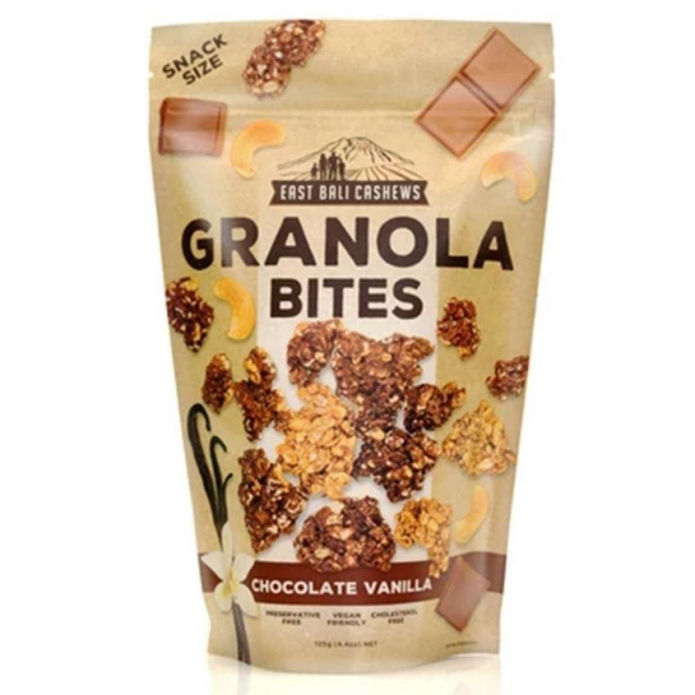 East Bali Cashews Granola Bites Chocolate Vanilla 125g