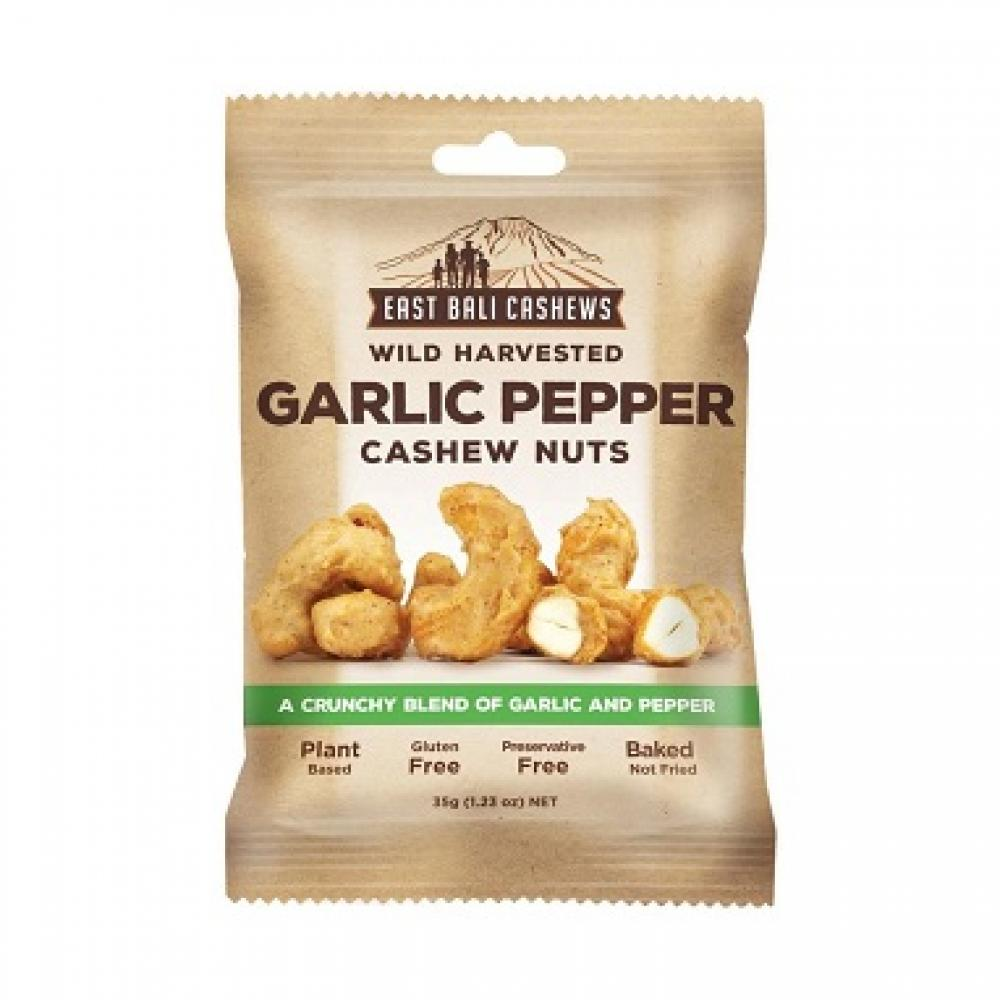 East Bali Cashews Wild Harvested Garlic Pepper Cashew Nuts 35g