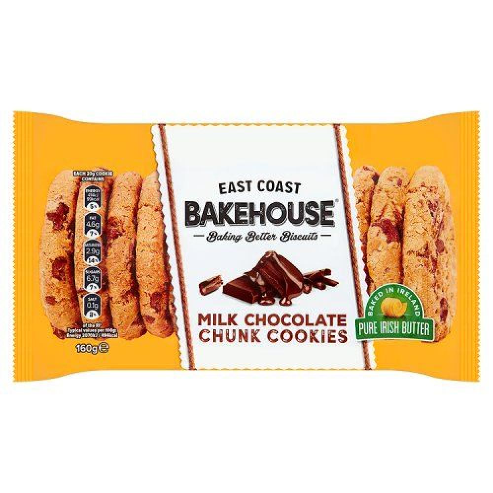 East Coast Bakehouse Milk Chocolate Chunk Cookies 160g
