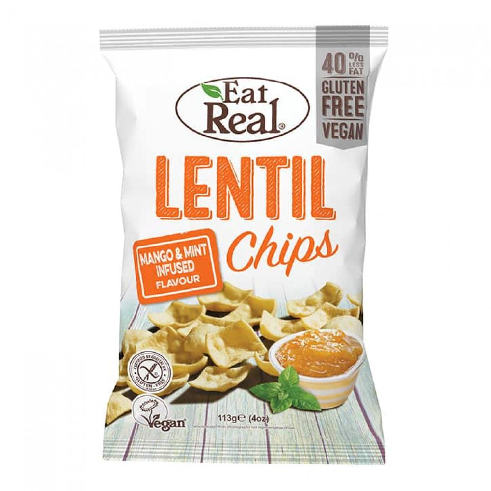 Eat Natural Lentil Chips Mango and Mint 113g