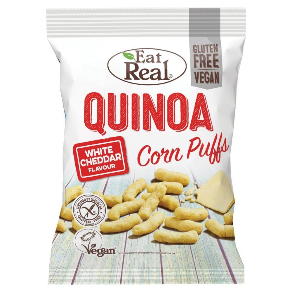 Eat Real Quinoa Corn Puffs White Cheddar Flavour 40g
