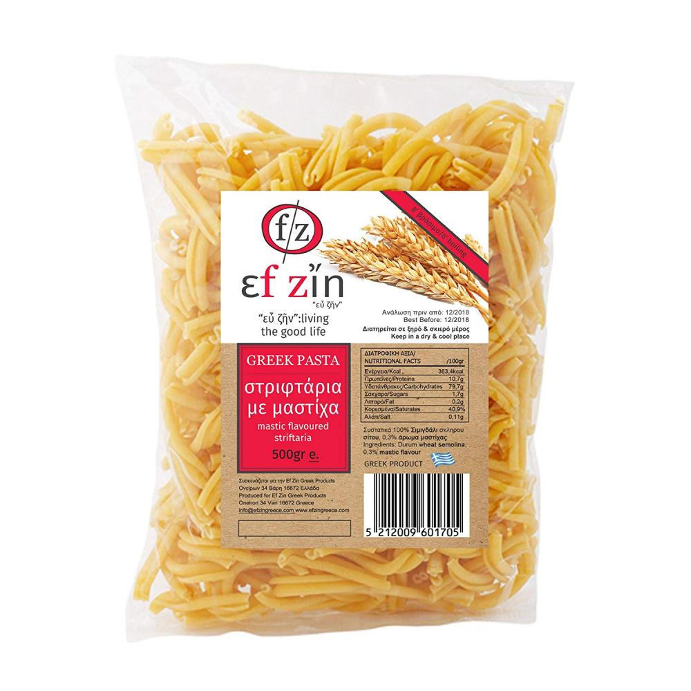 Ef Zin Greek Striftaria Pasta with Mastic 500g