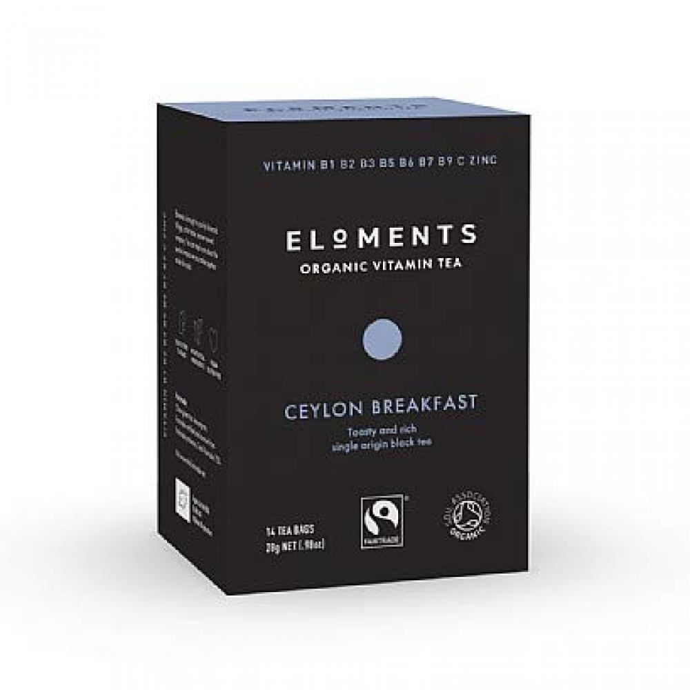 Eloments Organic Ceylon Breakfast Vitamin Tea 14 Teabags