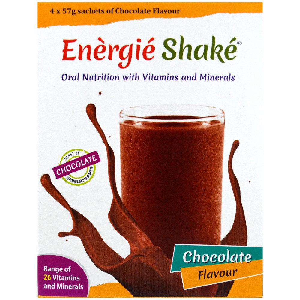 Energie Shake Chocolate Flavour 57g x 4