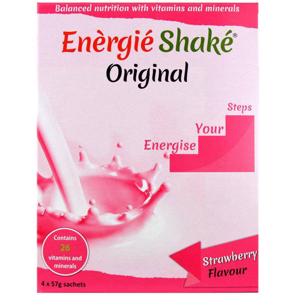 Energie Shake Original Strawberry Flavour 57g x 4