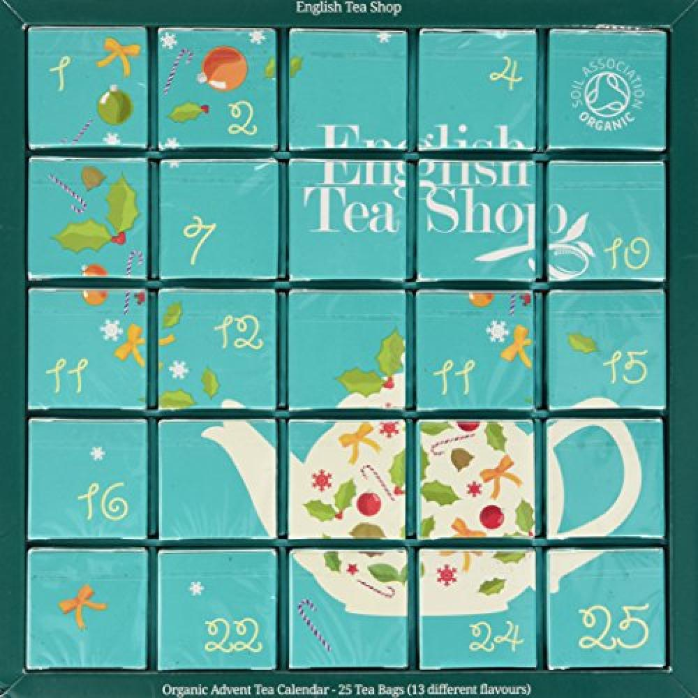 English Tea Shop Organic Blue Advent Calendar Tea Bags25-Count 50 g