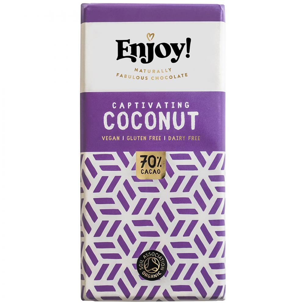 Enjoy Raw Chocolate Captivating Coconut 70g