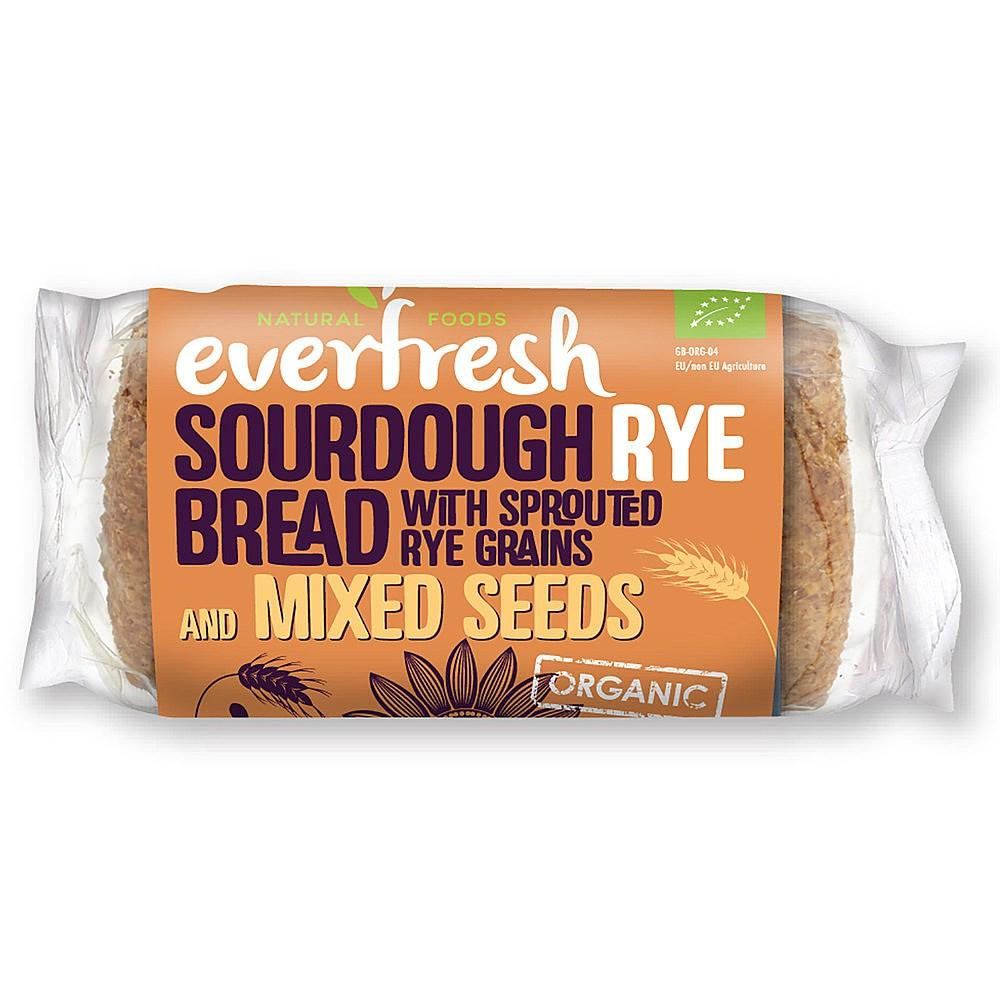 Everfresh Sourdough Rye Bread With Sprouted Rye Grain And Mixed Seeds 400g