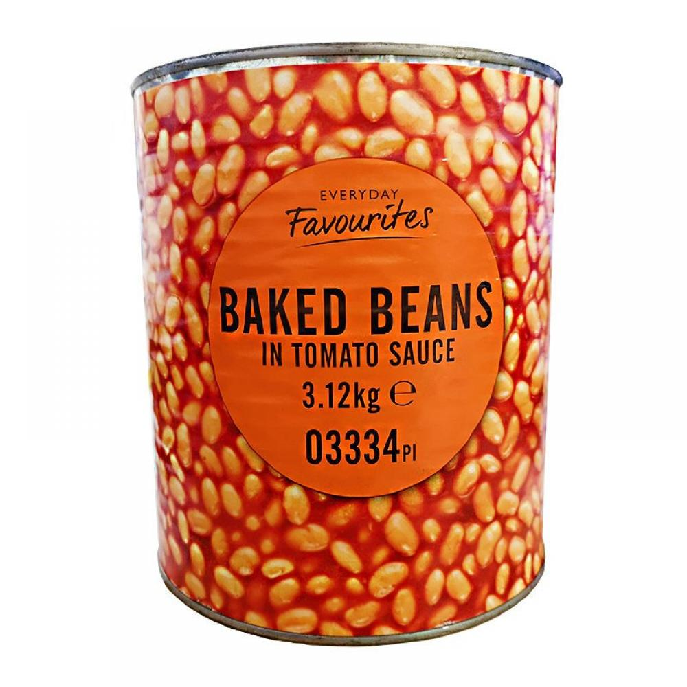 Everyday Favourites Baked Beans In Tomato Sauce 3.12kg