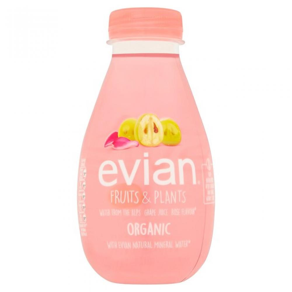 Evian Fruits and Plants Grape and Rose 370ml