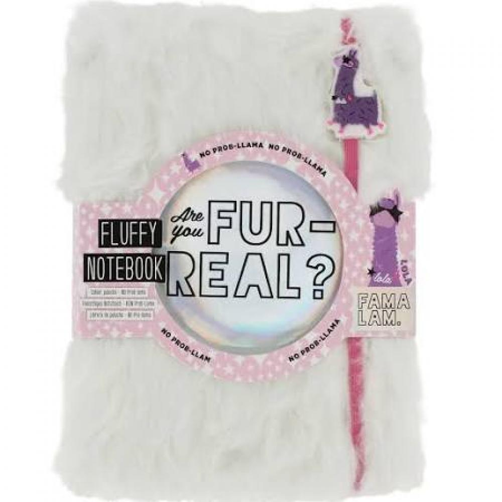 GIFT PARCEL  Fama Lam Are you Fur Real Fluffy Notebook