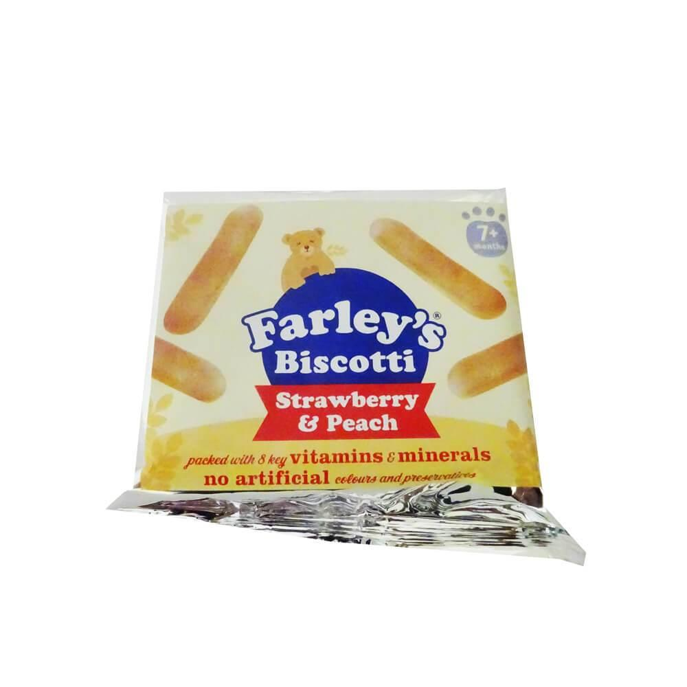 CASE PRICE  Farleys Biscotti Strawberry and Peach 12x60g