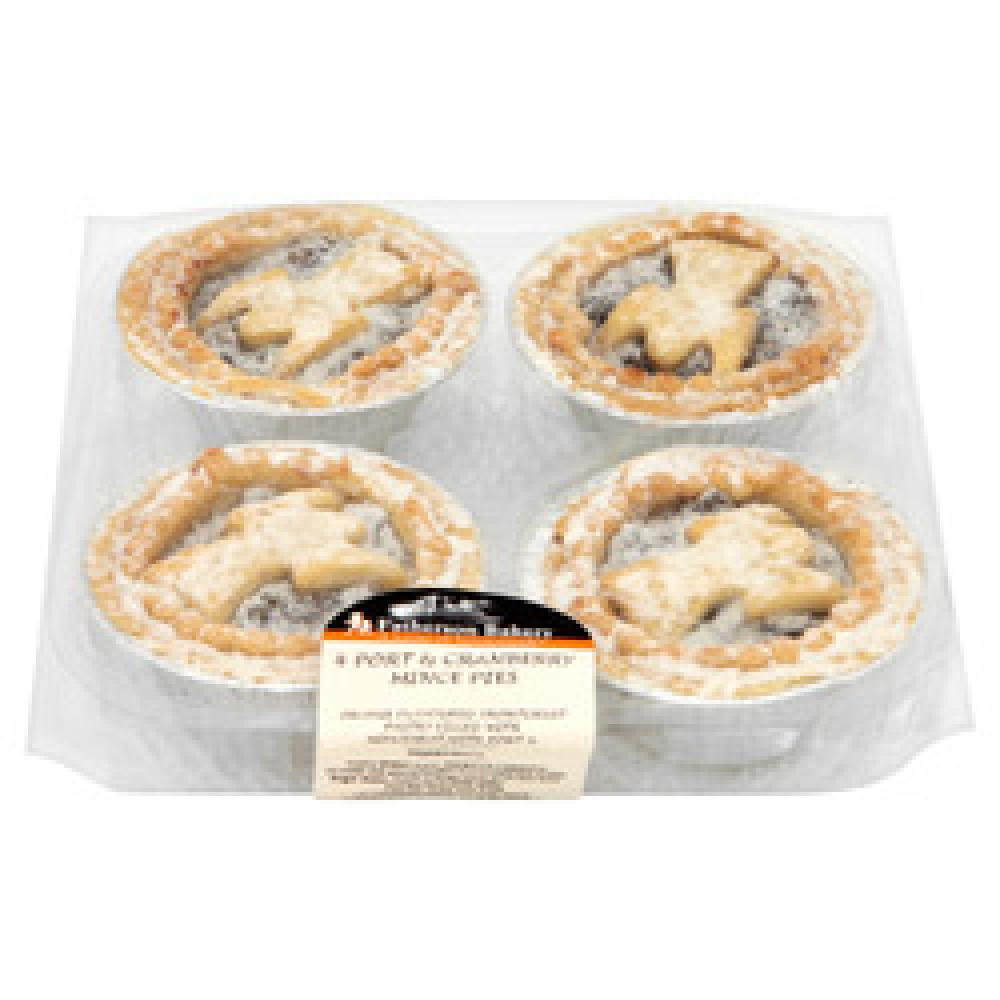 SALE  Fatherson Bakery 4 Port and Cranberry Mince Pies