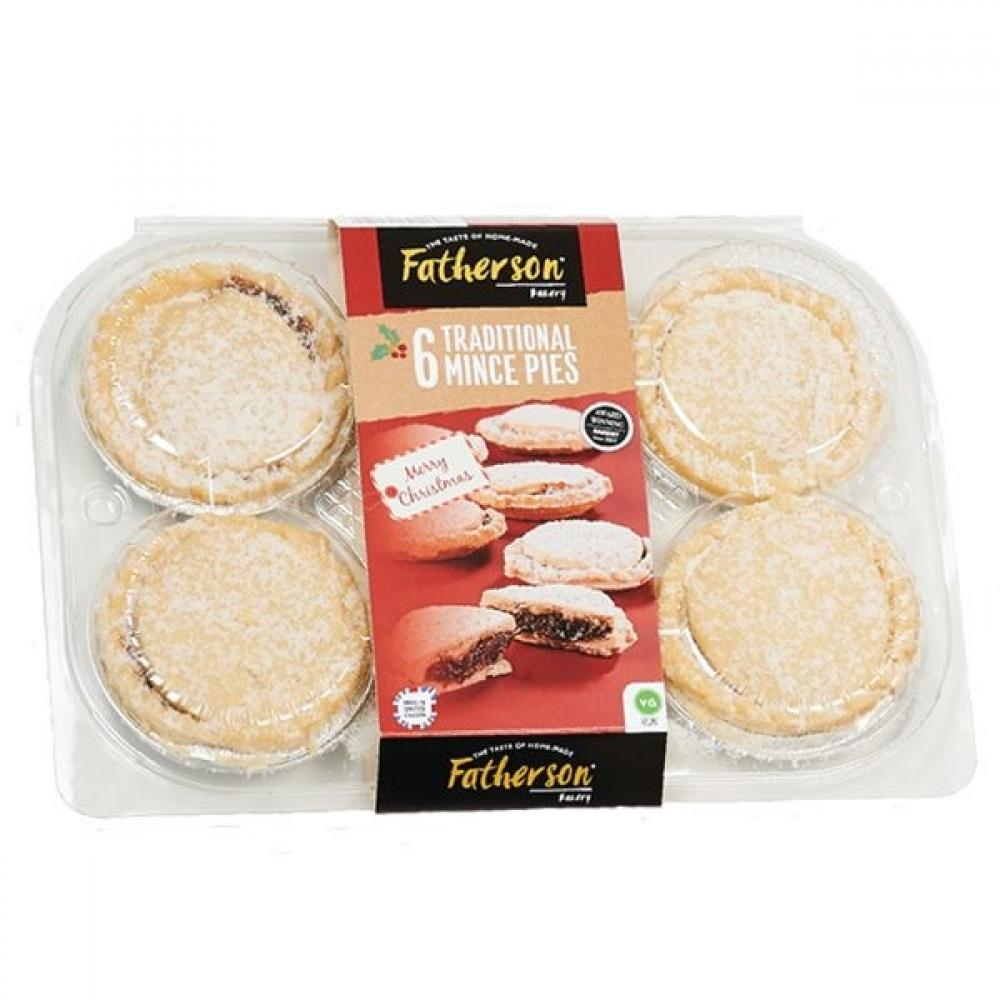 SALE  Fatherson Bakery 6 Traditional Mince Pies