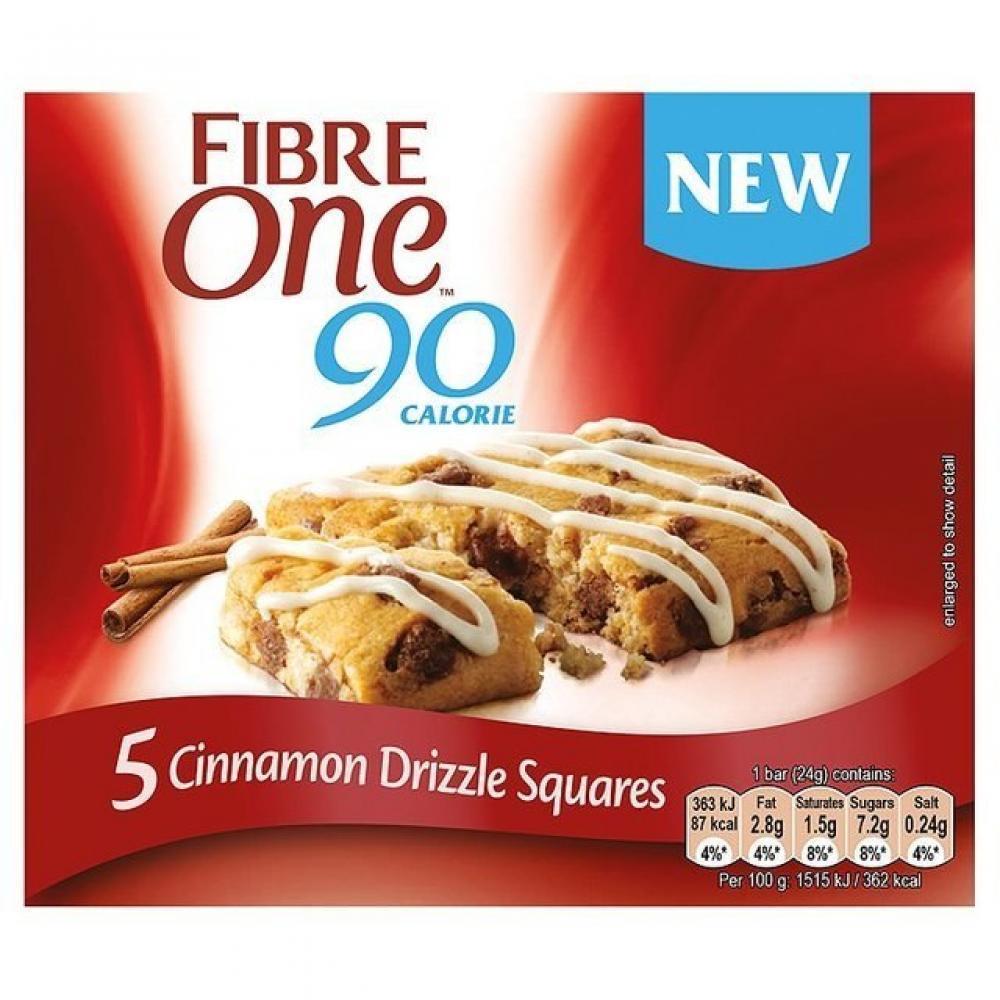 Fibre One Cinnamon Drizzle Squares 24g x 5
