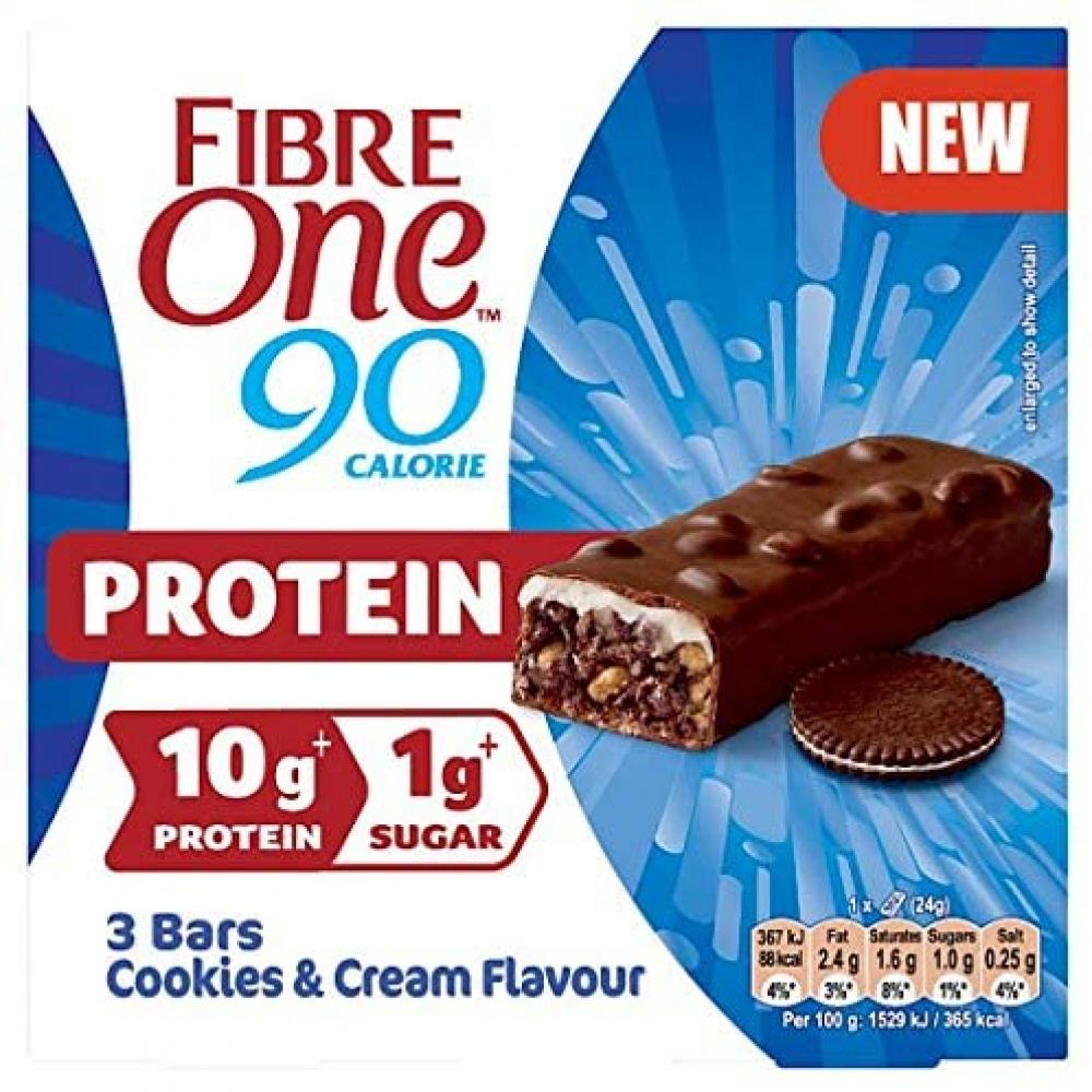 Fibre One Protein Cookies And Cream Flavour 3x24g