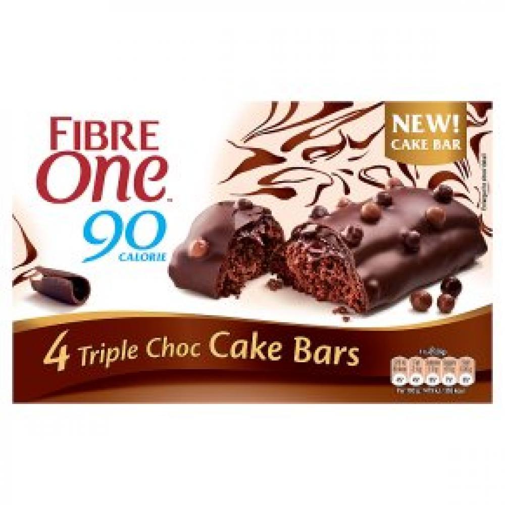 Fibre One Triple Choc Cake Bars 4x25g