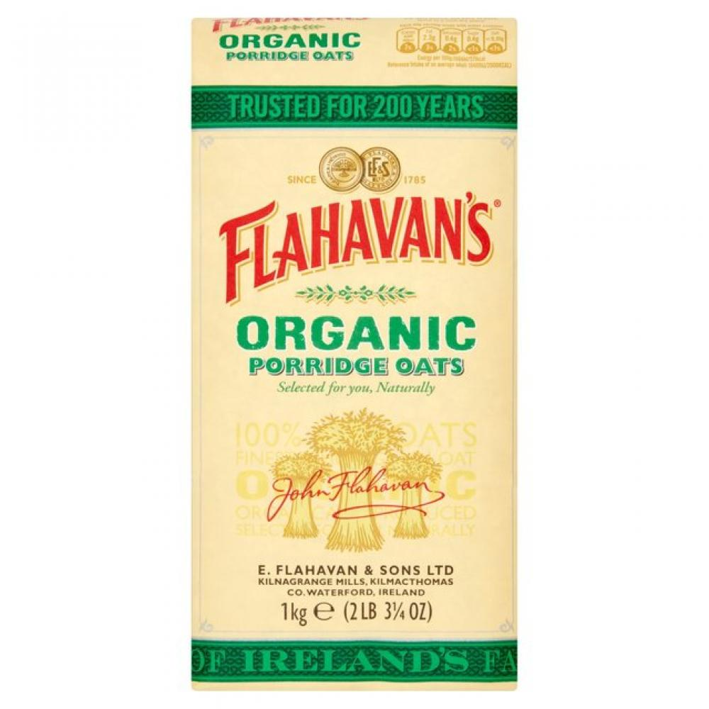 Flahavans Wholegrain Organic Porridge Oats 1Kg