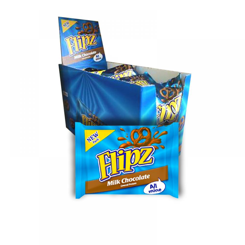 FLASH DEAL CASE PRICE  Flipz Mini Chocolate Covered Pretzels 20 x 37g