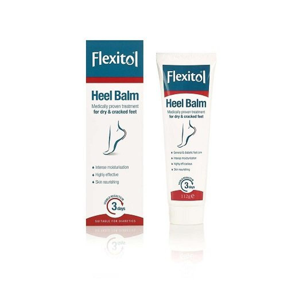 Flexito Heel Balm Medically Proven Treatment For Dry and Cracked Heels - 112g Damaged Box
