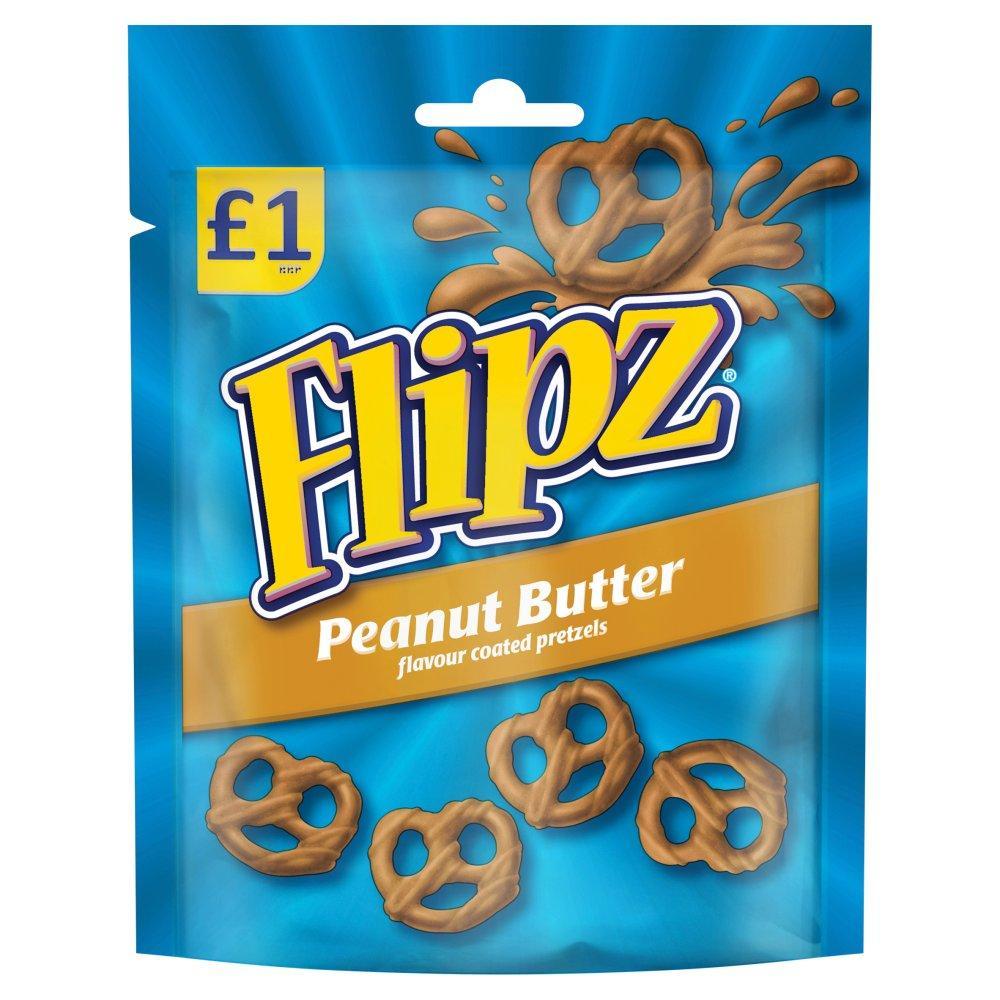 Flipz Peanut Butter Flavour Pretzels 80g