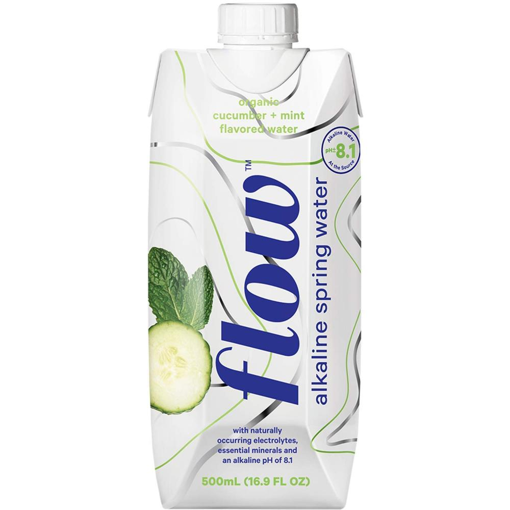Flow Alkaline Spring Water Organic Cucumber and Mint 500ml