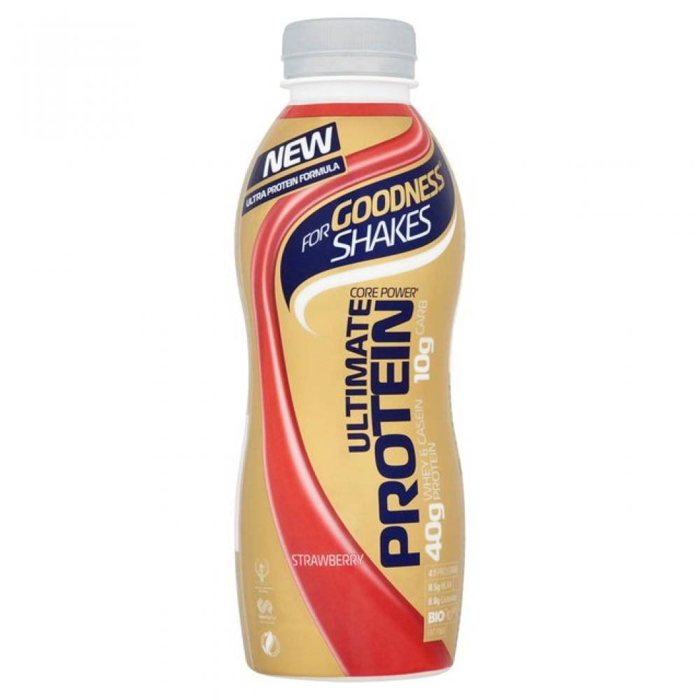 WEEKLY DEAL  For Goodness Shakes Ultimate Protein Strawberry 475ml