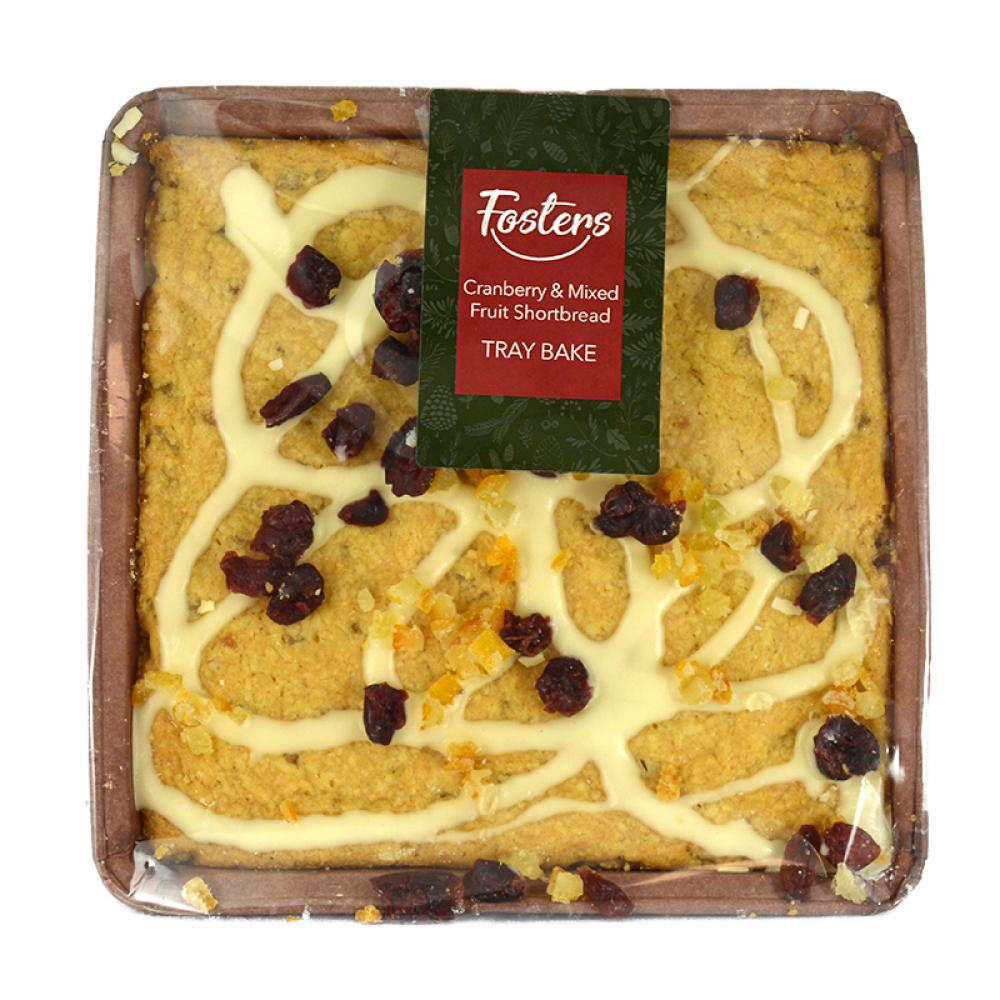 Fosters Cranberry and Mixed Fruit Shortbread Tray Bake