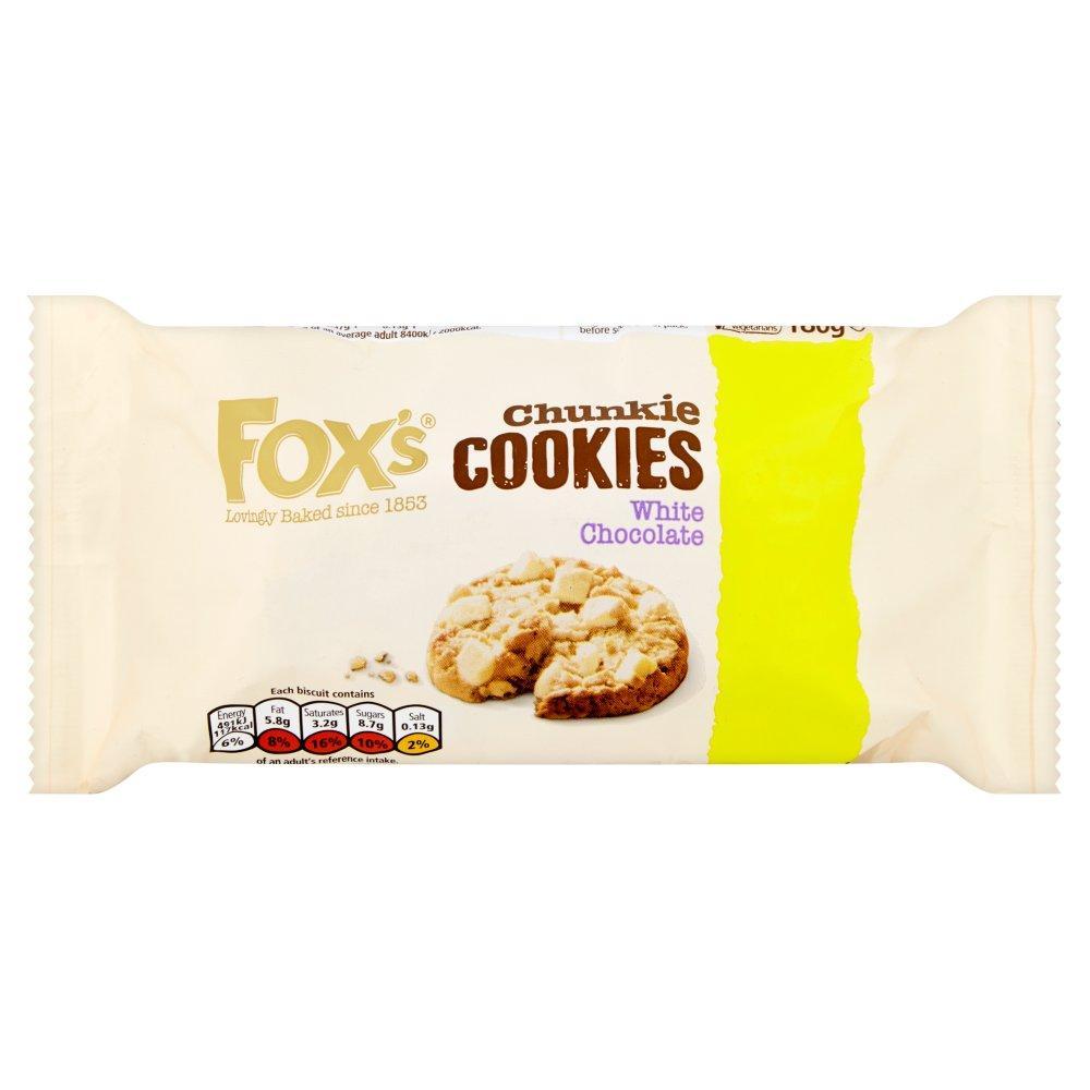 Foxs Chunkie Cookies White Chocolate 180g