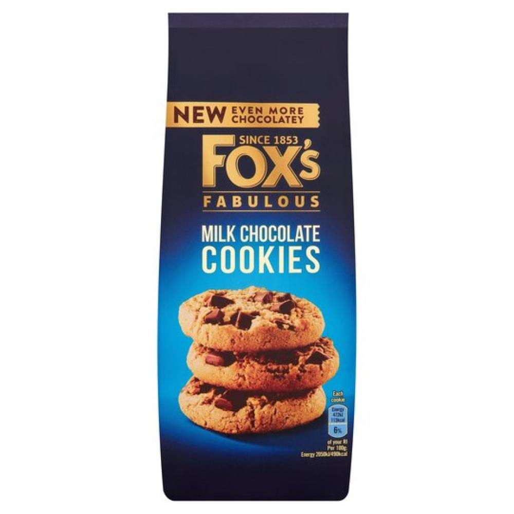 Foxs Milk Chocolate Chunk Cookies 180g