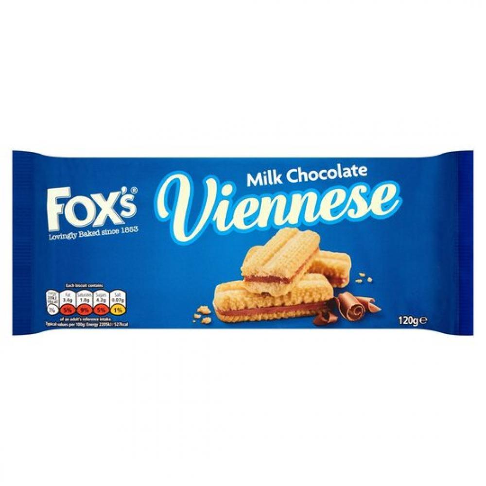 Foxs Milk Chocolate Viennese Biscuits 120g