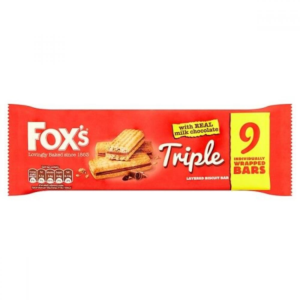 Foxs Triple Layered Biscuit 9 pack