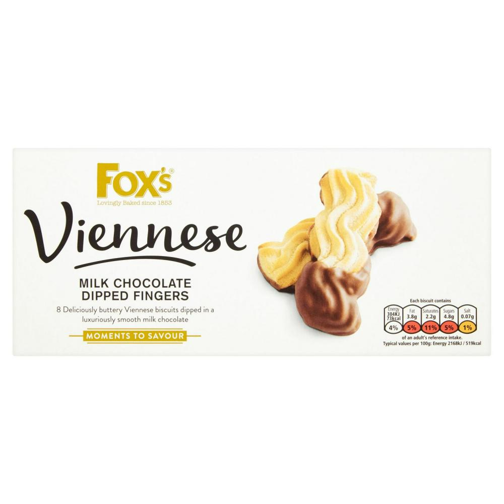 Foxs Viennese Dipped Fingers 105g