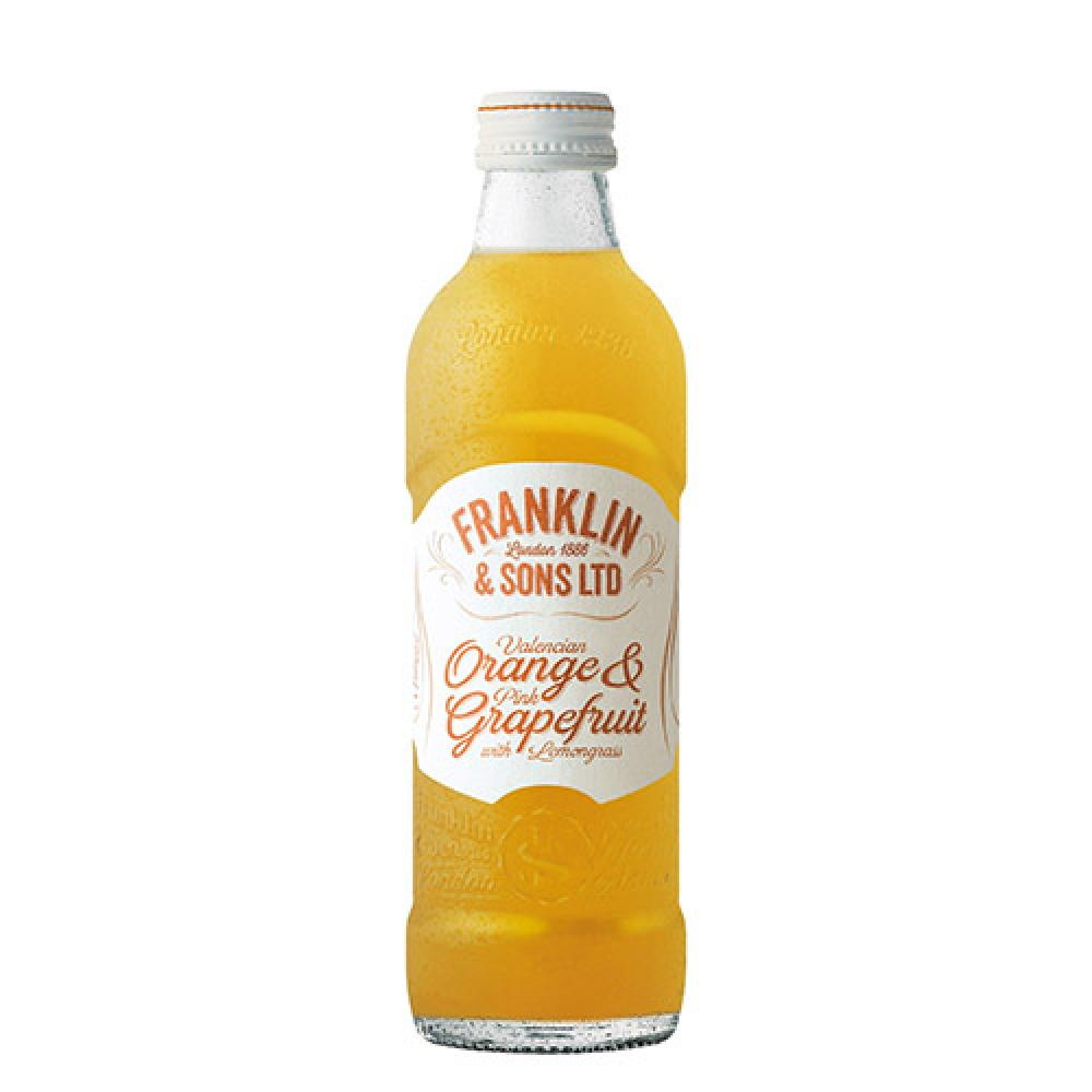 Franklin and Sons Valencian Orange and Pink Grapefruit 275ml