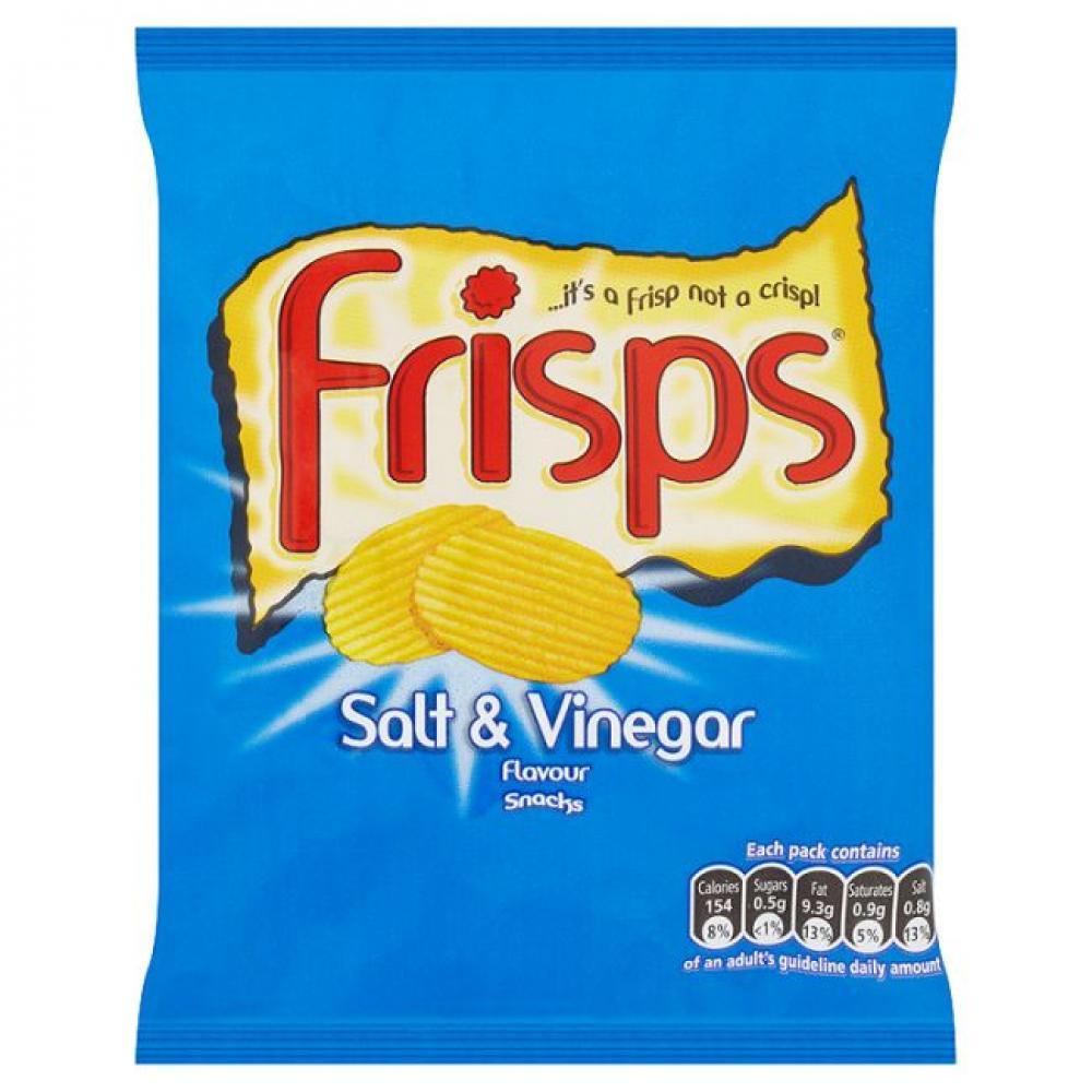 Frisps Salt and Vinegar Flavour Crisps 25.5g