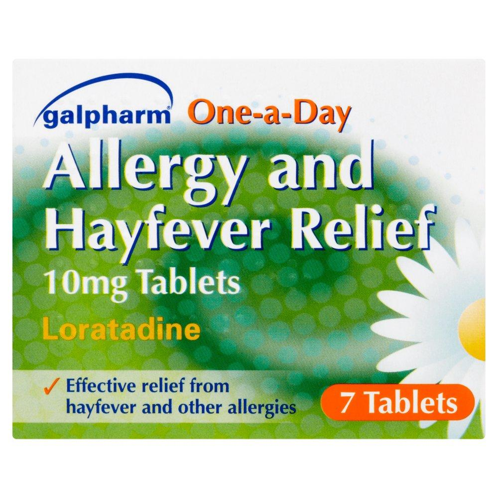 Galpharm Loratadine Allergy and Hayfever Relief 7 One a Day Tablets