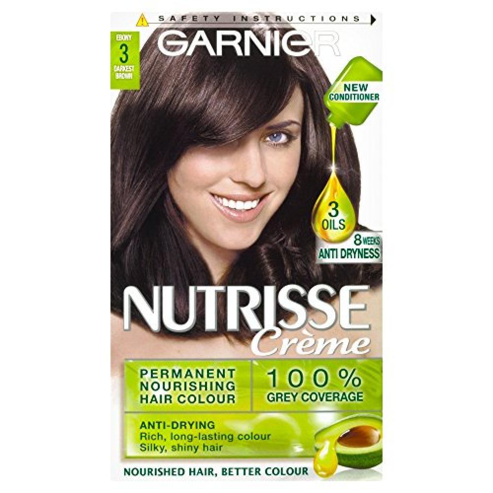 Garnier Nutrisse Creme Permanent Hair Colour 3 Darkest Brown
