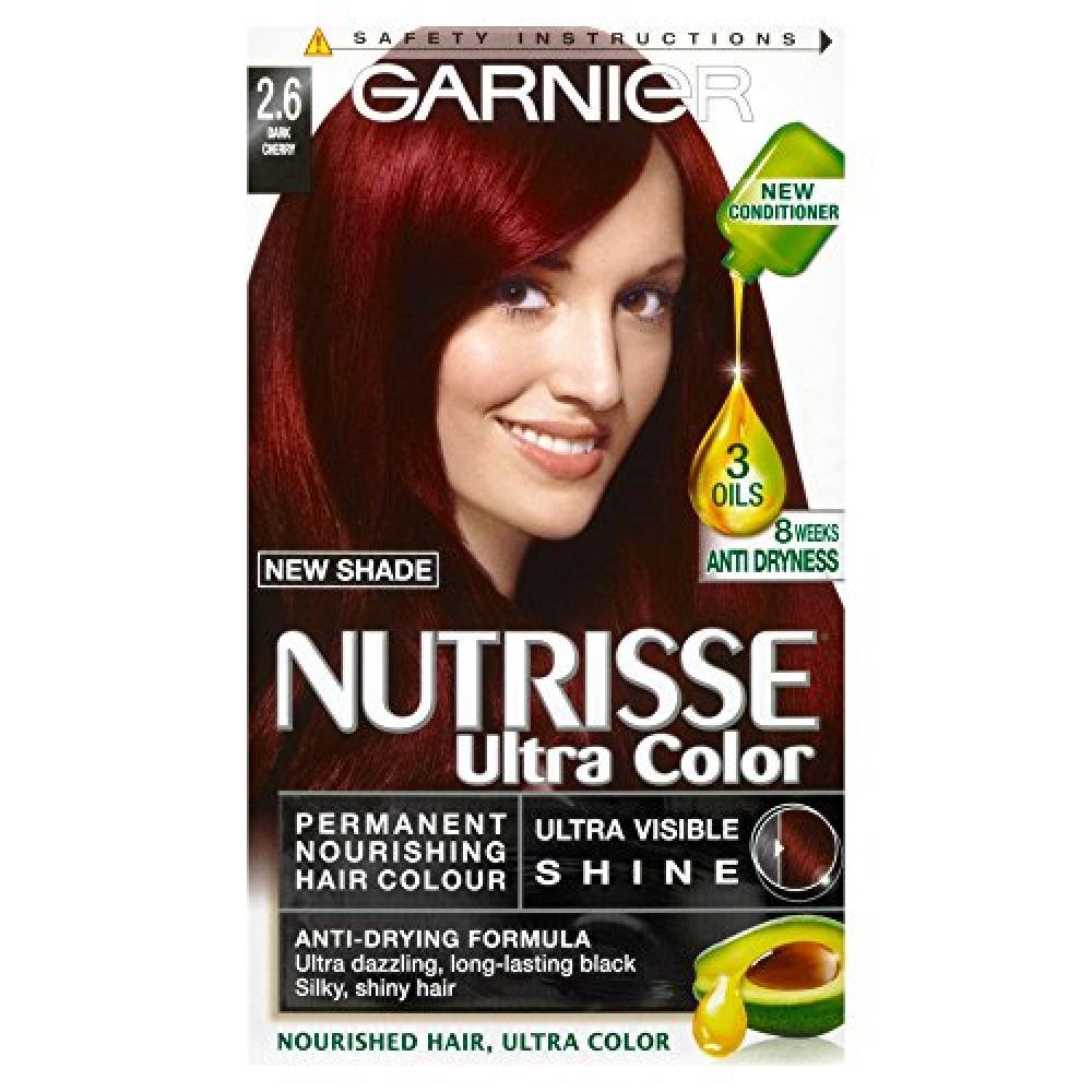 Garnier Nutrisse Ultra Color 2.6 Dark Cherry Red Permanent Hair Dye
