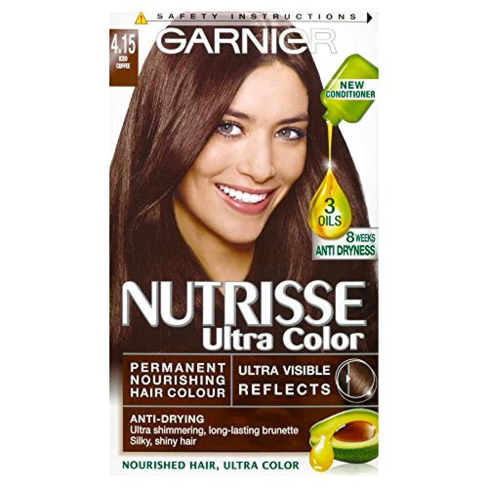 Garnier Nutrisse Ultra Color 4.15 Iced Coffee Brown Permanent Hair Dye Damaged Box