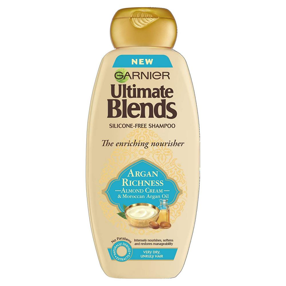 Garnier Ultimate Blends Argan Oil and Almond Cream Dry Hair Shampoo 360 ml