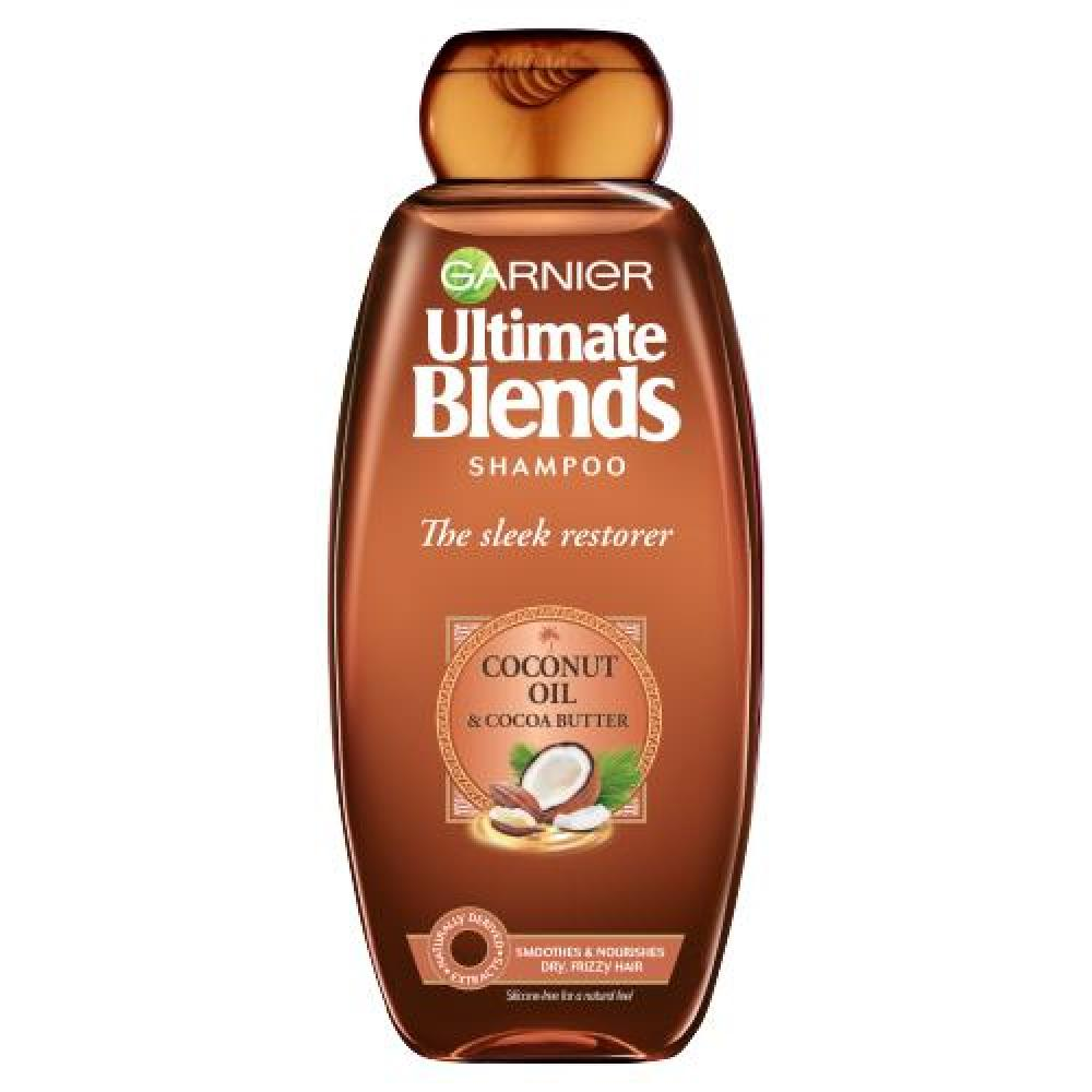 Garnier Ultimate Blends Shampoo Sleek Restorer With Coconut Oil and Cocoa Butter 360 ml