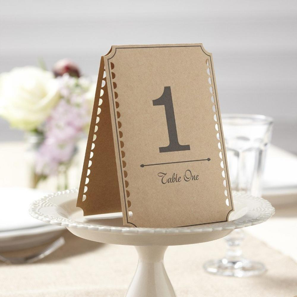 Ginger Ray Free Standing Vintage Table Numbers