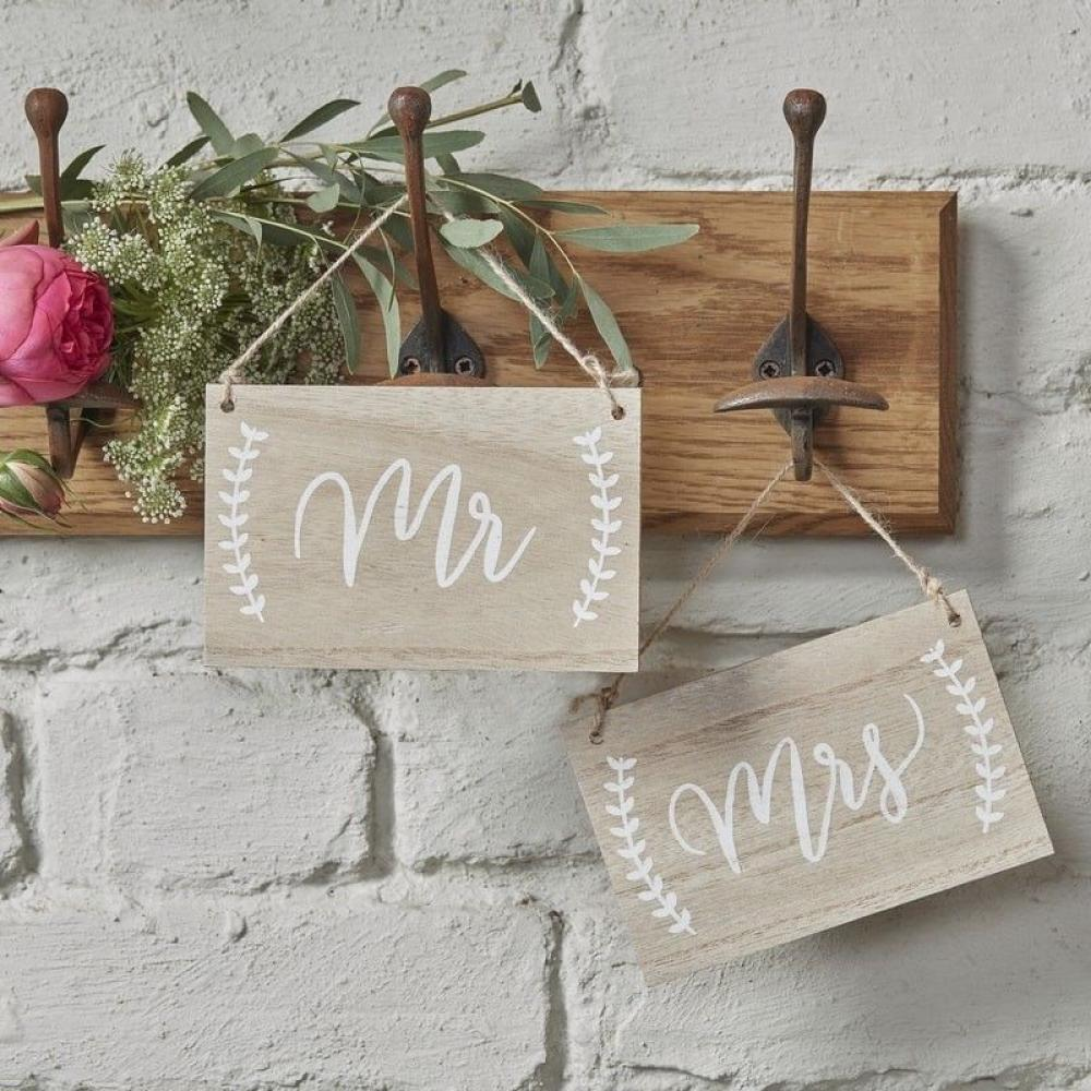 Ginger Ray Mr and Mrs Wooden Chair Sign