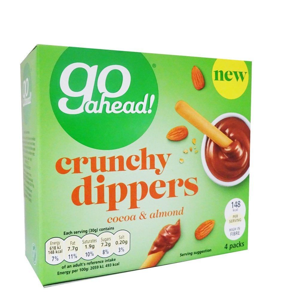TODAY ONLY  Go Ahead Crunchy Dippers Cocoa and Almond 30g x 4