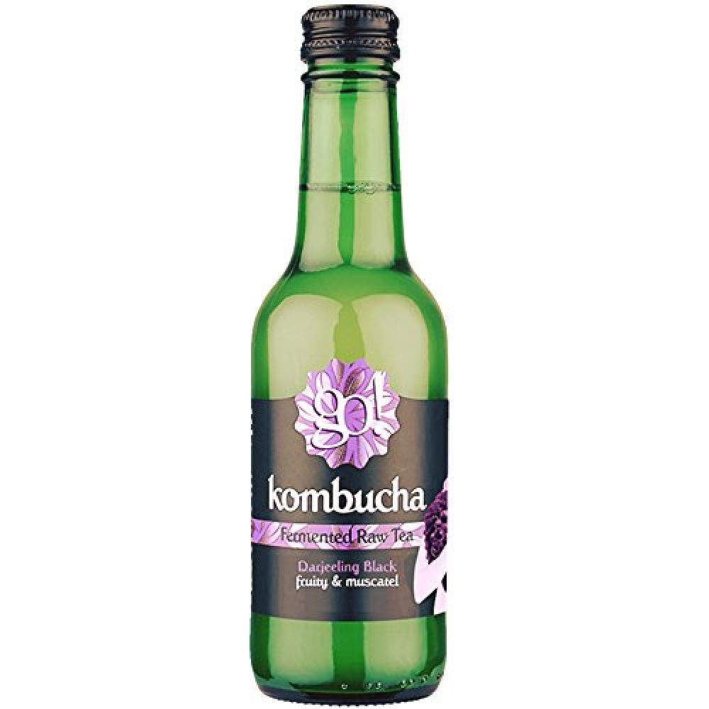 Go Kombucha Fermented Raw Darjeeling Black Tea 250 ml