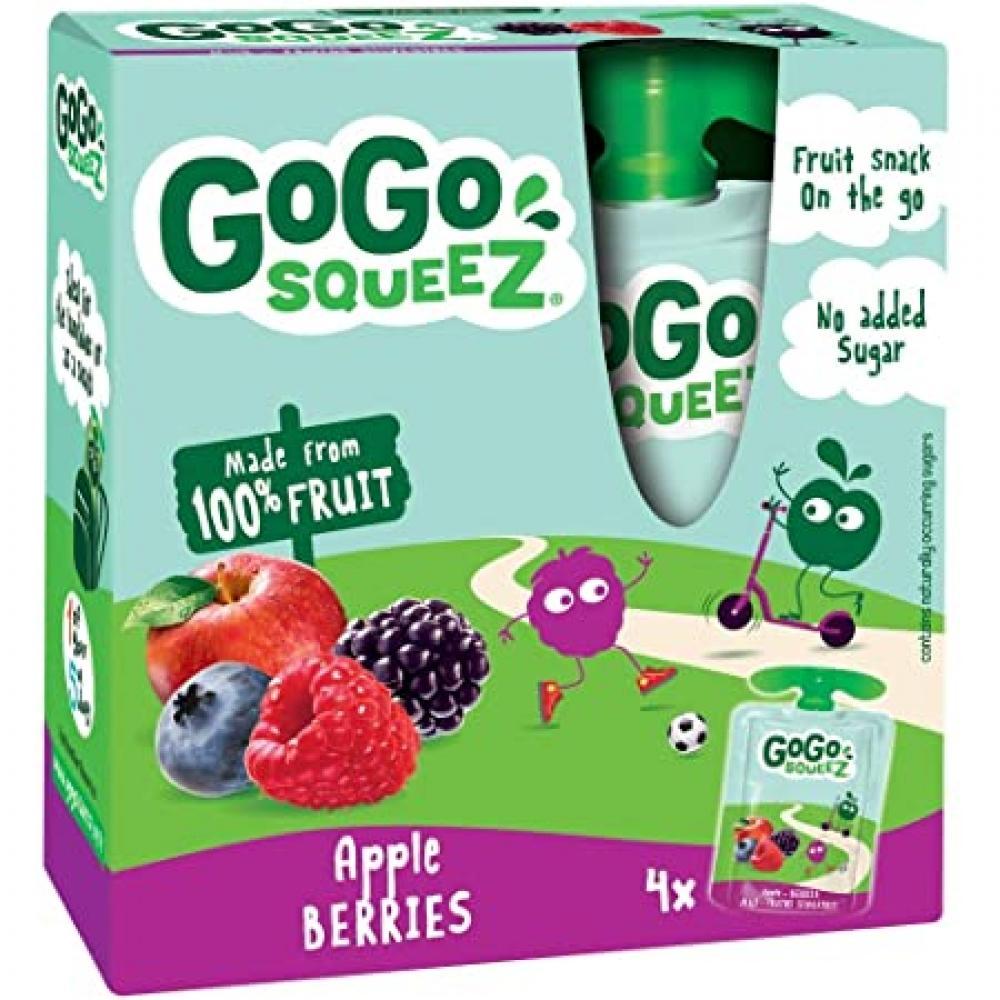 GoGo Squeez Apple Berries 4x90g