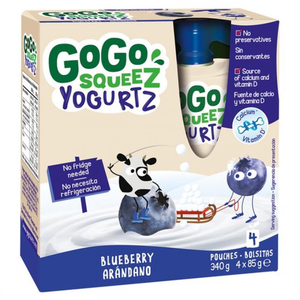 GoGo Squeez Blueberry Yoghurt Pouches 4x85g